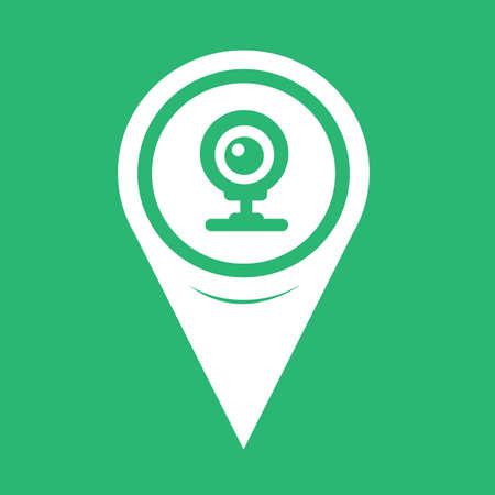webcam: Map Pointer webcam icon Illustration