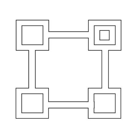 org: Org Unit vector symbol line icon Illustration