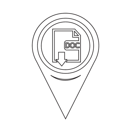 Map Pin Pointer File type DOC icon Illustration