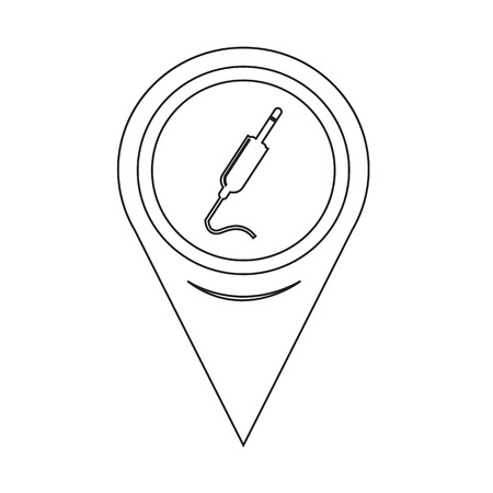 dvi: Map Pin Pointer jack cable icon