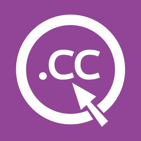 cc: Domain dot cc sign icon Illustration