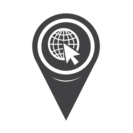 address: Map Pin Pointer go to web icon