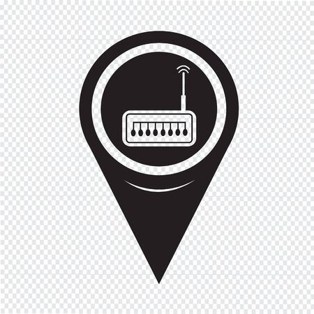 ethernet cable: Map Pointer router icon