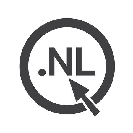 nl: netherlands Domain dot nl sign icon Illustration