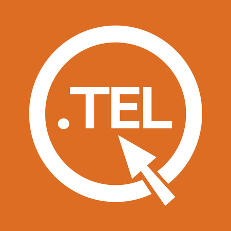 tel: Domain dot tel sign icon Illustration