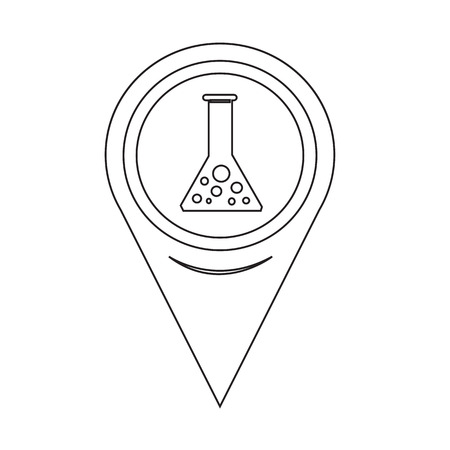 a solution tube: Map Pointer test tube icon