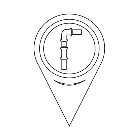 sewage system: Map Pin Pointer pipes icon