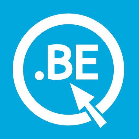 be: Belgium Domain dot BE sign icon Illustration
