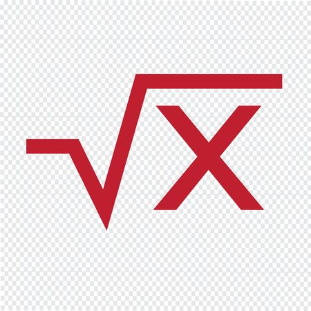 algebraic: Square root equation icon Illustration Art
