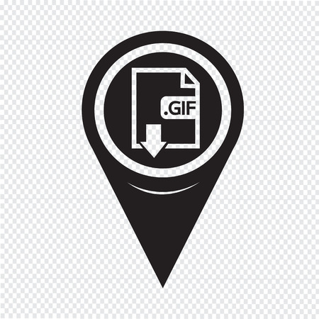 format: Map Pin Pointer Image File type Format GIF icon