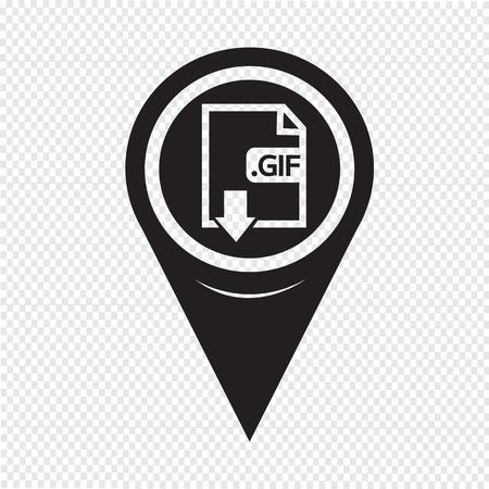 Map Pin Pointer Image File type Format GIF icon