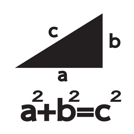 teorema: Teorema de Pitágoras icono Ilustración Arte
