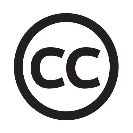 Creativecommons CC Icono de la ilustración del arte Ilustración de vector