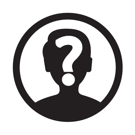 Who Icon Illustration and Vector Art
