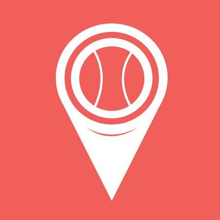 tennisball: Map Pin Pointer Tennis Ball Icon