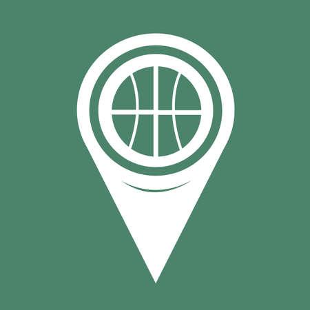 bal: Map Pin Pointer Basketball icon