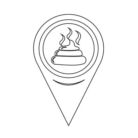 feces: Map Pin Pointer Feces icon