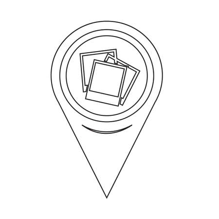 Map Pin Pointer Photograph Icon