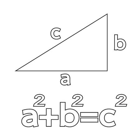 axiom: Pythagoras theorem icon Illustration Art Illustration