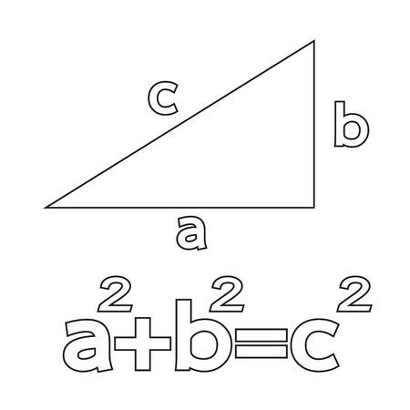 teorema: Teorema de Pit�goras icono Ilustraci�n Arte