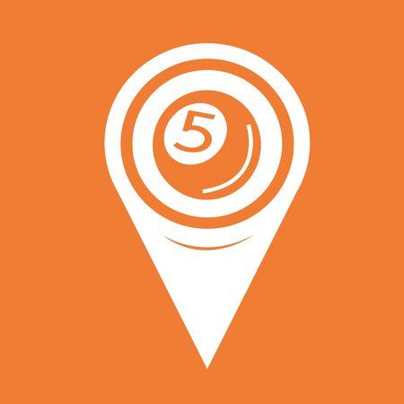 bola de billar: Icono de la pelota piscina Pin de la correspondencia del indicador