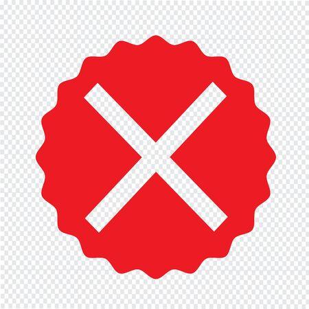 cancellation: Cancel cross icon Illustration Art Illustration