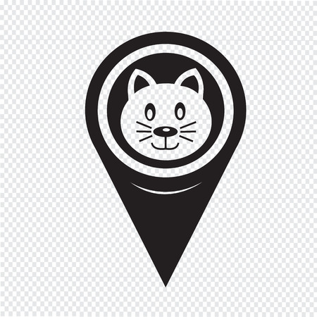 pussycat: Map Pin Pointer Cat icon