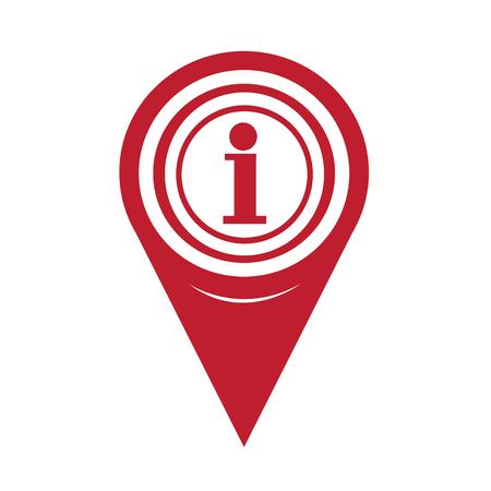 Plan Pin Pointer Icône d'information Banque d'images - 49650584