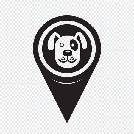 pointer dog: Map Pin Pointer Dog icon
