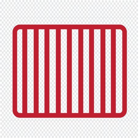 lockup: Prison bars jail icon Illustration Art Illustration