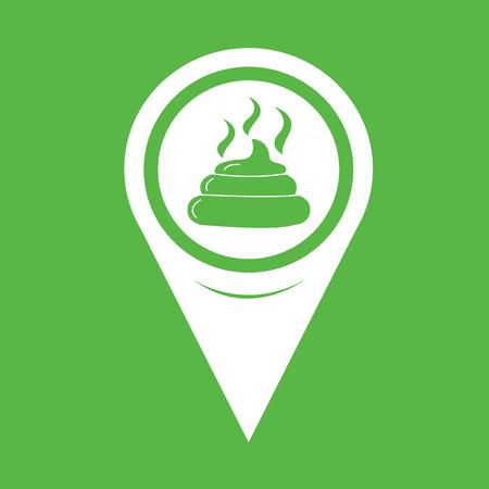 Map Pin Pointer Feces icon