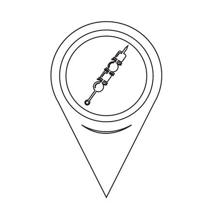 shish kebab: Map Pin Pointer Shish kebab skewers Icon