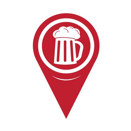 guinness: Map Pin Pointer Glass beer icon Illustration