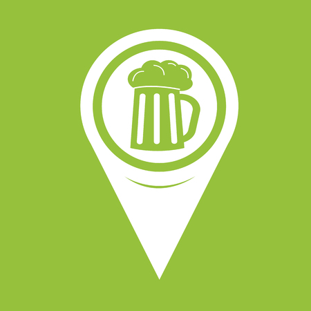 draught: Map Pin Pointer Glass beer icon Illustration