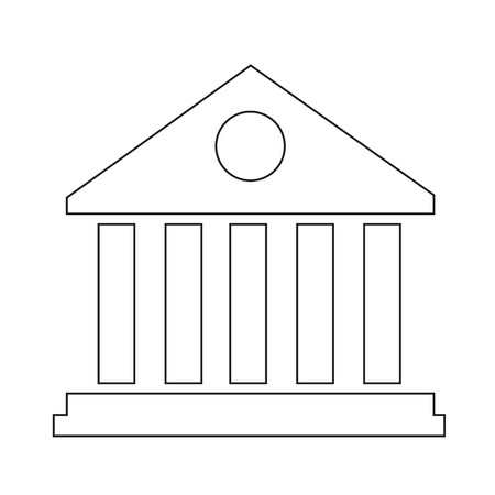 univercity: Library Building Icon Illustration Art