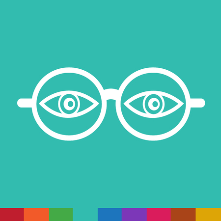 eye glasses: Eye Glasses Icon Illustration sign design Illustration