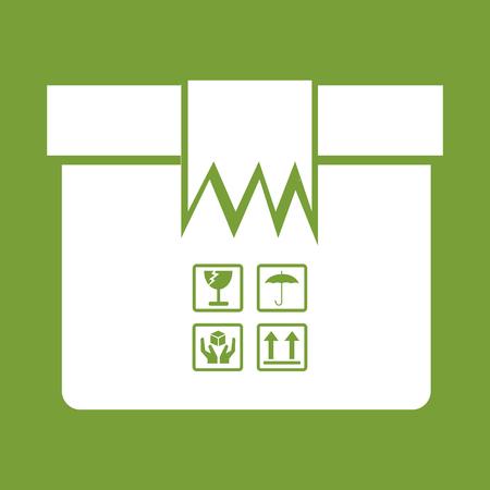 stockpile: Box Package Icon symbol Illustration design