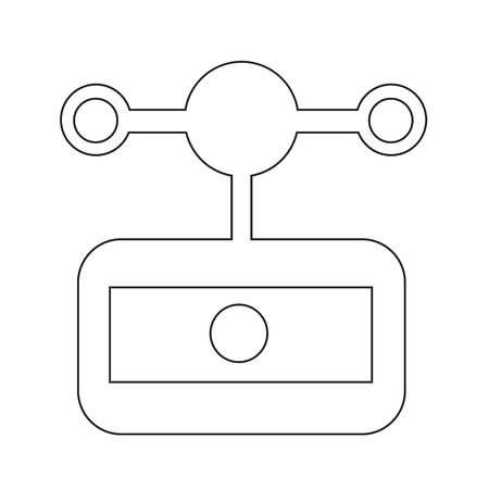 anemometer: anemometer wind meter icon Illustration design Illustration