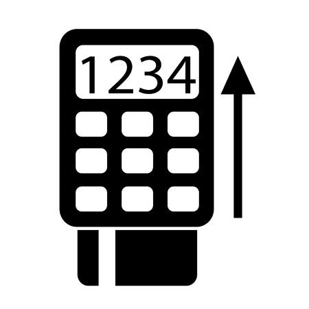 cashless payment: POS Terminal Icon symbol Illustration design