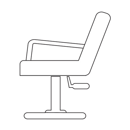 Barber Chair Icon Illustration design