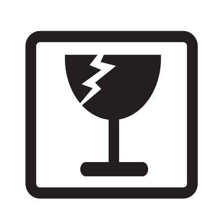 fragiele pictogram symbool illustratie ontwerp Vector Illustratie