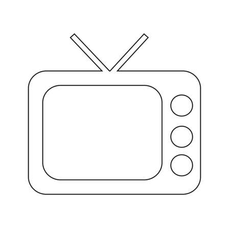 tv icon: Retro TV icon Illustration design Illustration