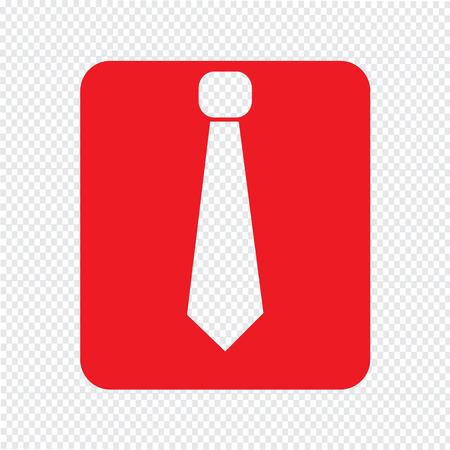 dresscode: shirt with necktie icon Illustration sign design