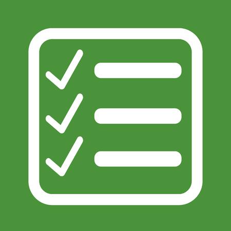 check icon: Checklist icon Illustration symbol design