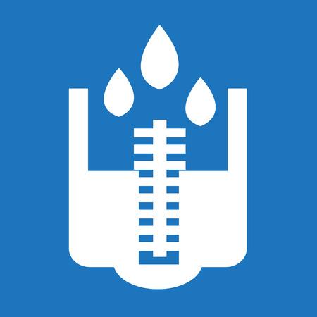 washstand: rain meter icon Illustration design