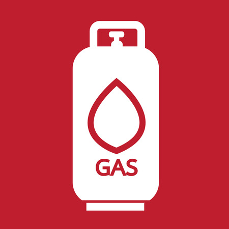 lpg: Liquid Propane Gas icon Illustration symbol design