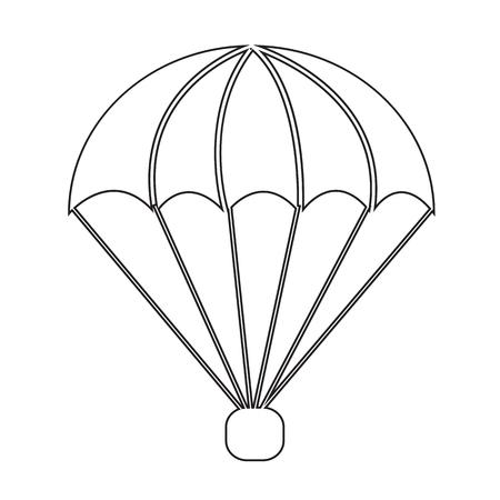 parachuter: parachute icon Illustration symbol design Illustration