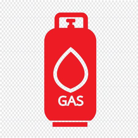 propane gas: Liquid Propane Gas icon Illustration symbol design