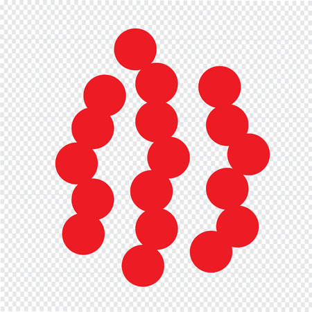 virus bacteria: virus bacteria icon Illustration design Illustration