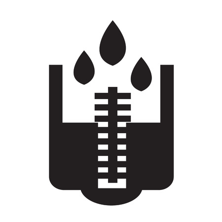 rain meter icon Illustration design